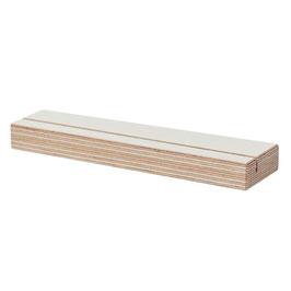 Karten-Halter Multiplex Birkenholz weiß