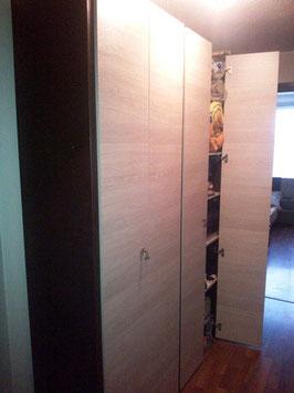 Closets modular con 4 repisas