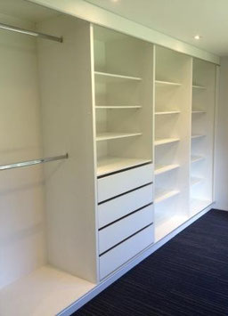 Closets modular vestidor con tubos colgadores