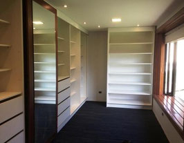 Closets  vestidor modular con 4 repisas sin puertas