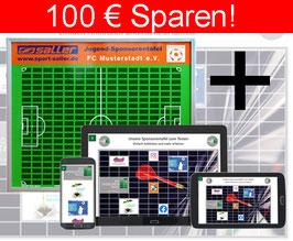ONLINE-SPONSORENTAFEL + Die Sponsorentafel Innenbereich, Wandmontage