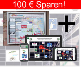 ONLINE-SPONSORENTAFEL + Die Sponsorentafel Außenbereich, Wandmontage