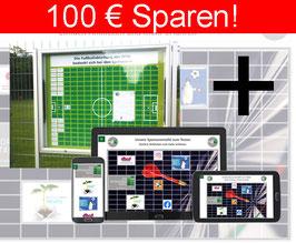 ONLINE-SPONSORENTAFEL + Stehende Sponsorentafel, Außenbereich, Erdmontage