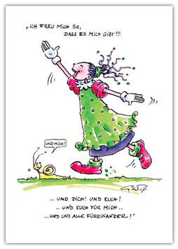 K15 - Stineliese Postkarte - Freude