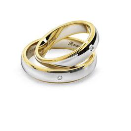 Fedi Comete Gioielli Renzo e Lucia in Oro Giallo e Bianco codice: ANB 1111BG