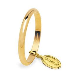 Fede Nuziale Unoaerre Classica Francesina Oro Giallo 3 Grammi Referenza: 30AFN4