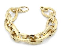 Bracciale in oro 18kt donna maglie ovali  codice: IS974G