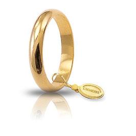 Fede Unoaerre  in oro giallo Classica gr. 5 mm 3,6 Referenza: 50AFN1