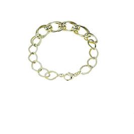 Bracciale donna classico in Oro giallo catena a scalare con maglie ovali lucide e lavorate Codice:  BR984G