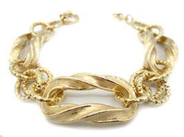 bracciale catena donna in oro giallo satinato 18 kt codice : IS982G