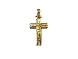 Crocifisso in oro bianco e giallo Referenza: IS1449BG