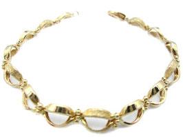 Bracciale donna in oro giallo 18 kt maglie lucide e diamantate codice: IS988G