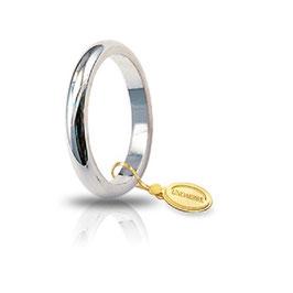 Fede Unoaerre Classica Oro Bianco  4 GR mm 3,0 Francesina Referenza: 40 AFN4B