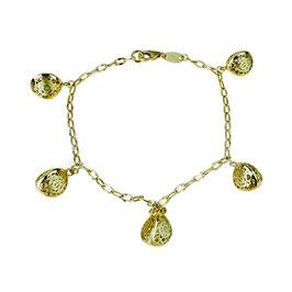 Bracciale donna Oro Giallo 18kt Con Ciondoli Pendenti codice: BR999G
