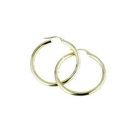 Orecchini da donna in oro giallo a cerchio lisci Codice:  O2219G