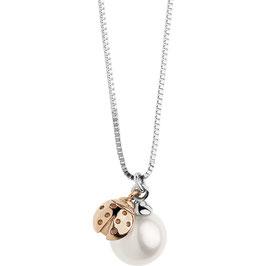 Collana Donna Comete Gioielli Fantasie Coccinella di Perle GLP 474