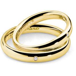 Coppia Fedi Comete In Oro Giallo Collezione: Angelica e Orlando Con Diamante Referenza: ANB 1133G