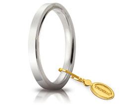 Fede Unoaerre Cerchi di Luce Oro bianco 2.5 mm. - Gr. da 3,70 a 5,10 Referenza: 25 AFC 2