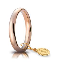 Fede Unoaerre Comoda Oro Rosa mm 3,5 Referenza: 35 AFC 1