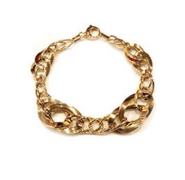 Bracciale donna in oro 18 kt maglie lucide e godronate codice: IS1000G