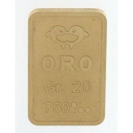 Lingotto in oro 750/00 18 kt da 100 grammi