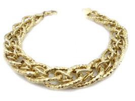 Bracciale catena donna in oro giallo godronato 18 kt codice : IS986G