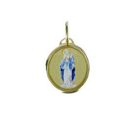 Ciondolo madonna miracolosa in oro giallo Referenza: P2521BG