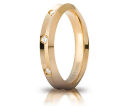 Fede Nuziale Unoaerre Corona in Oro Giallo con 8 diamanti Referenza 40AFC278/008