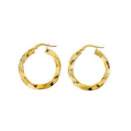 Orecchini da donna in oro giallo a cerchio torchon Codice:  O3198G