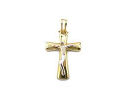 Crocifisso in oro bianco e giallo Referenza: IS1450BG