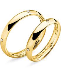 Fede Comete In Oro Giallo Collezione: Angelica e Orlando Con Diamanti Referenza: ANB 1132G