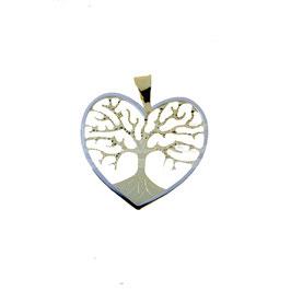 Ciondolo albero della vita in oro bicolore Referenza: C2783BG