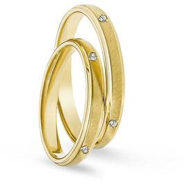 Fede Nuziale Gioielli Comete in oro giallo con Diamante 18 kt Enea e Didone   ANB 1870G