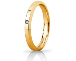 Fede Nuziale Unoaerre Hydra Slim in Oro Giallo con diamante 30AFC280/001
