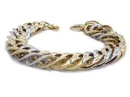 bracciale donna in oro giallo e bianco 18 kt groumette codice : OV975G