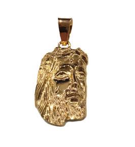 Ciondolo Volto di Gesù in oro giallo 18KT OV2405G