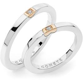 Fede Nuziale gioielli comete Adamo ed Eva  ANB2322br
