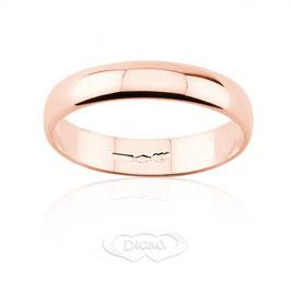 Fede Nuziale classica diana in oro rosa grammi 3 - Referenza: F3LOR