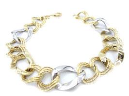 bracciale catena donna in oro giallo e bianco 18 kt codice : IS981GB