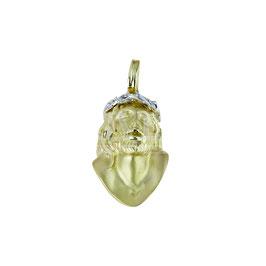 Pendente volto santo in oro bianco e giallo gr 17.20 Referenza: C1577BG