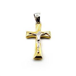Crocifisso in oro bianco e  giallo Referenza: IS001BG