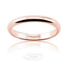 Fede Nuziale classica diana francesina in oro rosa grammi 4 - Referenza: F4SOR