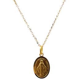 Collana con Medaglia Madonna Miracolosa in oro 18kt CC1623C