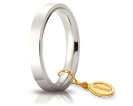 Fede Unoaerre Cerchi di Luce in Oro Bianco 3.5 mm. - Gr. da 5,50 a 7,70 Referenza: 35 AFC 2