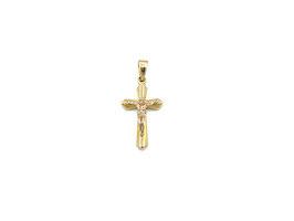 Crocifisso in oro bianco e giallo Referenza: IS1454BG