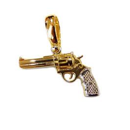 Ciondolo Pistola in oro giallo e bianco IS1577DF