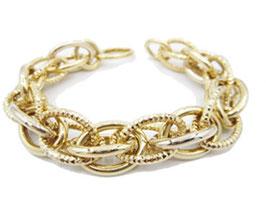 Bracciale in oro 18kt donna maglie ovali  codice: IS972G