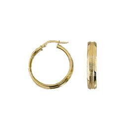 Orecchini da donna in oro giallo a cerchio con bordo lucido Codice:  O3193G
