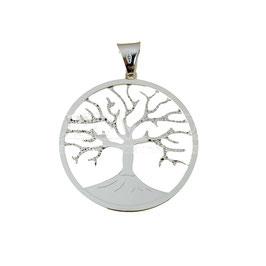 Ciondolo albero della vita in oro bianco Referenza: C2708B