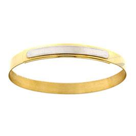 Bracciale Riccioli In Oro Giallo e Bianco 18Kt Gr 11.00